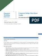 Corporate Bridge Toolkit - Financial Modeling Interiview.pdf