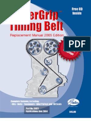 Bandas de Tiempo 2005 pdf | Belt (Mechanical) | Bearing