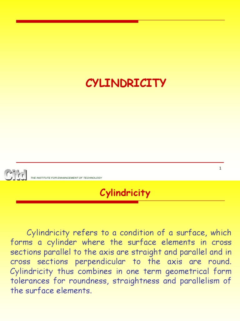 Cylindricity Engineering Tolerance Space
