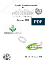 Internationaler Jugendaustausch in Dutschland, Landkreis Wunsiedel i. FichtelgebirgeSommer 2013