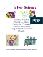 Demo Math for Science Activities and Worksheets