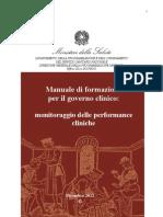 1 Monitoraggio Performance Cliniche 09-05-13