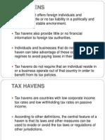 Cfc,Fsc and Tax Havens