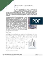 Rheology Measurements in Fundamental Units