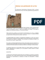 Obras arquitectónicas son patrimonio de La Paz
