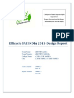 Design Report Format_Efficycle 2013