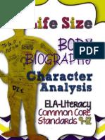 LifeSizeBodyBiographyCharacterAnalysisCCSSELALiteracy