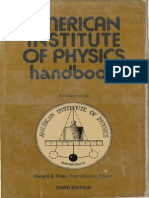 American Institute of Physics Handbook