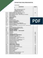Modelo de Estructura de Presupuesto