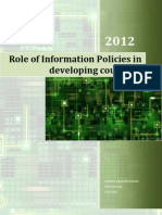Role of information Policy in Developing Countries