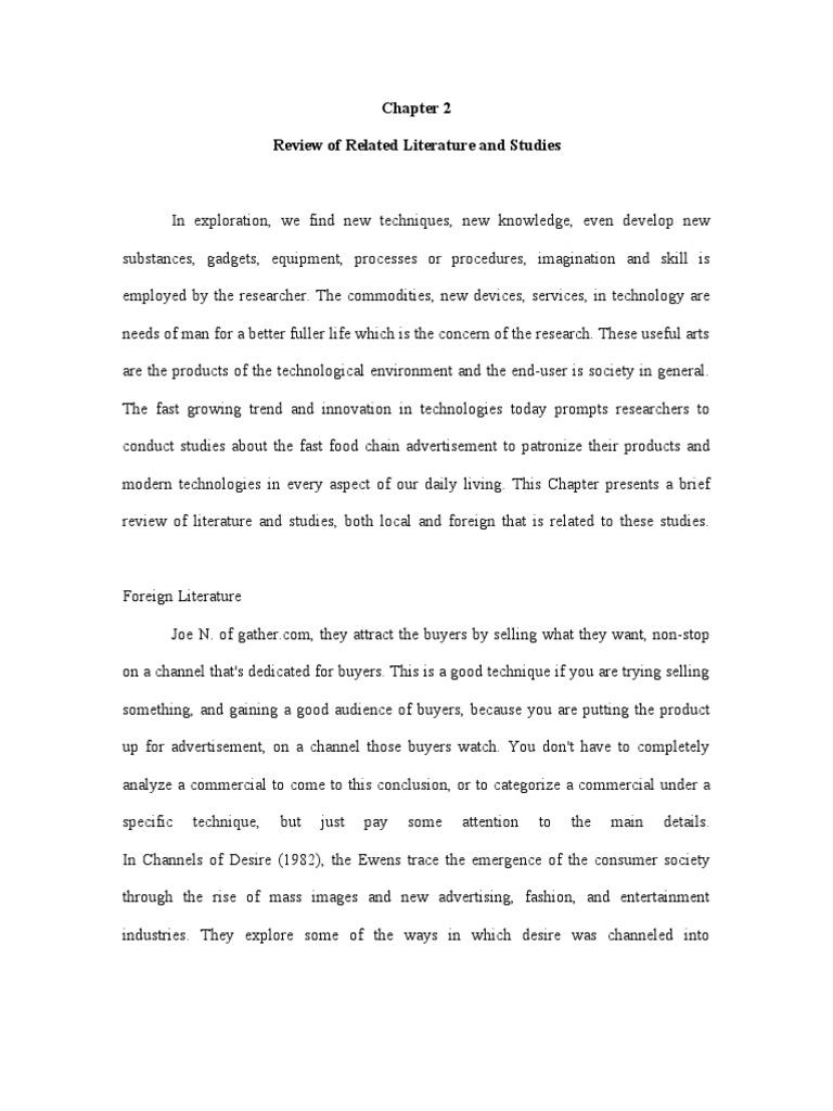 ad analysis essay example analyze essay analysis essay writing  chapter rrl sample doc