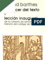 Roland Barthes El Placer Del Texto