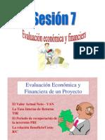 Proyectos-Sesion 7-Evaluacion Economica y Financiera