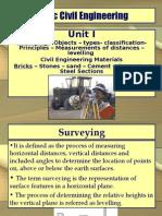 Basic Civil and Mechanical Engineering Unit 1