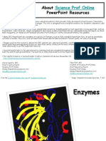 Enzymes Cell Biology Lecture PowerPoint VCBC