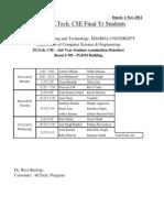 M.tech. CSE Seminar Datesheet