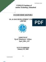 Muntazir OGDCL internship Report
