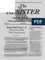 The Resister, The Political Warfare Journal of the Special Forces UndergroundVolume I, Number 4