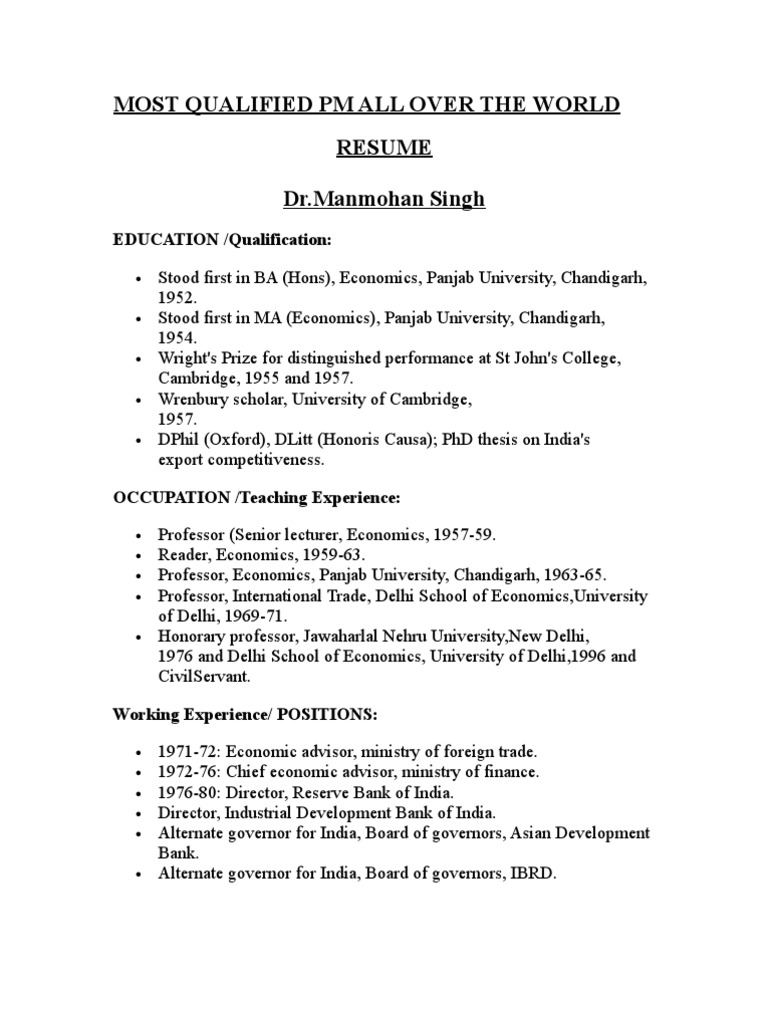 resume best one have a look government of india government