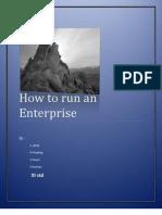 How to Run an Enterprise