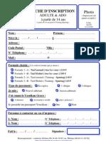 u.s.r.y.b - Fiche d'Inscription