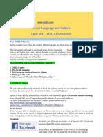 Omilo Newsletter April 2011