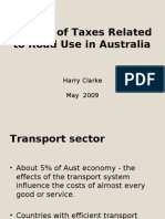 Reform of Taxes Related to Road Use in Australia