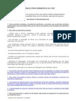Critérios e Procedimentos da CNIC