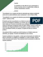Concepto de población y muestra