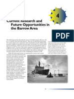 Current Research and Future Opportunities in the Barrow Area