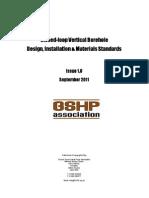 Vertical Borehole Standards Issue1 September2011
