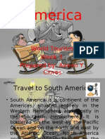 American continent on world tourism