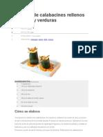Receta de Calabacines Rellenos de Tofu y Verduras