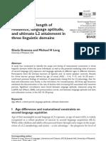 Long-2012-Age of Onset, Length of Residence, Language Aptitude