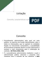 Licitação- Conceito, características e princípios II