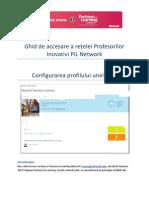 4. Ghid de accesare a rețelei Profesorilor Inovativi PiL Network