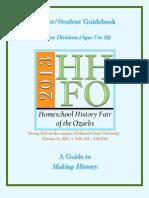 HHFO ParentStudent Junior Division Guidebook