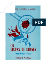 Leçons de choses Godier-Moreau 04 CM1-CM2