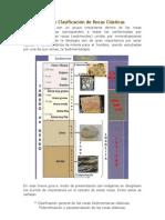 Identificación y Clasificación de Rocas Clásticas