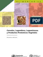 Cereales, Legumbres, Leguminosas y Productos Proteínicos Vegetales