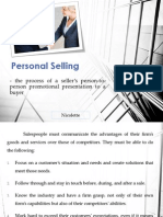 Personal Selling Sales Promotion 2