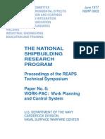 Nsrp 0003 - Work-pac Work Planning
