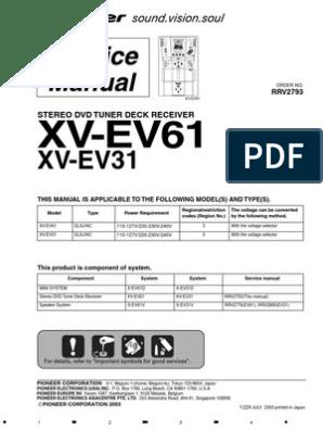 Xv-ev61 Xv-ev31 Pioneer   Compact Cette   Am Broadcasting on