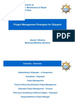 Project Management Strategy Shipyard