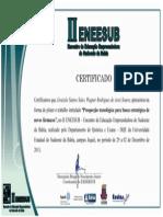 Certificados de Inovação Tecnológica Graziele