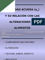ACTIVIDAD ACUOSA (aw)  Y SU RELACIÓN