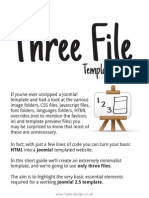 Three File Template