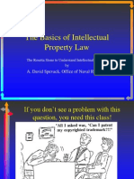 Basics of Intellectual Property Law