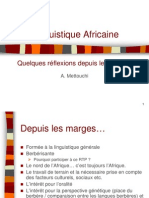 Linguistique Africaine - Mettouchi