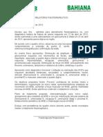 RELATÓRIO FISIOTERÁPICO